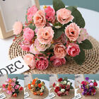 21pcs Artificial Rose Flowers Fake Flower Bouquet for Wedding Party Home Decor