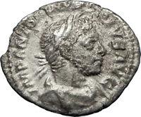 ELAGABALUS  sacrificing over altar 221AD Rome Ancient Silver Roman Coin i69739