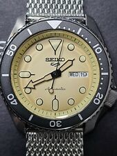 Seiko 5 Sport Automatic Champagne Dial Steel Mesh Automatic Watch SRPD67