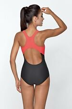 Lorin Swimsuit Black/Grey/Coral Size 10