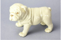 VINTAGE  Lenox BULLDOG Puppy Figurine Ivory Gold Porcelain Dog Adorable