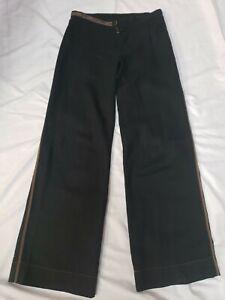 Authentic Cop.Copine Paris BADRIG black Size 38 Women's Pants wide leg #CB3