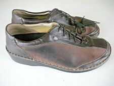 FINN COMFORT Hanoi Brown Leather/Suede Oxford Lace-Up Shoes Size: 41 / 10