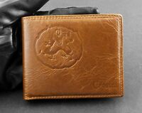 Dragon Oil Leather Bifold Mens Wallet Card holder Case