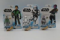 "3 New Sealed Star Wars 3.75"" Action Figures Assortment Animated Series Hasbro"