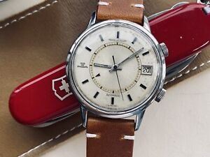 Jaeger-LeCoultre Memovox Alarm Vintage Automatic Stainless Steel Mens 37mm Watch