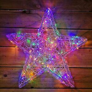 Christmas 58cm LED Twinkling Star 120 LEDs Indoor/Outdoor Xmas Decoration Light