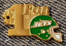 #1 Fan Lapel Pin~New York Jets~NFL~Football~1980s Vintage~TM by Travis~NOS