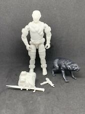 GI JOE COBRA Black Major 1985 Snake Eyes With Timber Lot White Prototype Mint