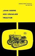 John Deere 420 Crawler Tractor Operators Manual 80k-up