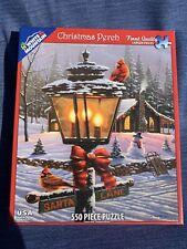 Vintage CHRISTMAS PERCH Lantern Cardinal GENO PEOPLES 550 Jigsaw Puzzle ❤️tb11j