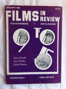 Films In Review Magazine January 1981 9 to 5 Dolly Parton Lily Tomlin Jane Fonda