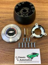 Comfort Grip or Wood Steering Wheel Install Kit Cushion 3-Spoke 67-68 Chevy cars