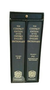 Compact edition of the Oxford English Dictionary 1989 with magnifying glass