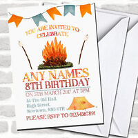 Campfire Camping Children's Party Invitations