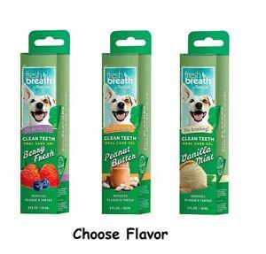 Fresh Breath 2 oz Clean Teeth Oral Hygeine Care Dental Gel for Dogs No Brushing