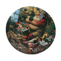 Vtg Disney Mickey Minnie Mouse Christmas Large pin badge Santa retro collectible