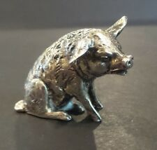 "CUTE VINTAGE STERLING SILVER MINIATURE ""PIG"" FIGURINE, 30 grams"