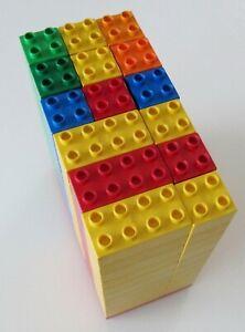 MEGASET: Lego DUPLO 150 STEINE 30 4x4 (8er), 120 2x2 (4er) + Platte! Div. Farben