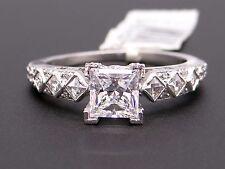 New Platinum Princess Round Cut Diamond Engagement Promise Ring Semi Mounting