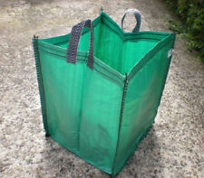 "LARGE 19"" RE-USABLE GREEN GARDEN SACKS, BAGS, RUBBLE, STORAGE, TOYS, LAUNDRY"