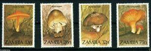 Zambia Sc 315-318 Mushroom Stamps  MNH