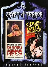 Crypt of Terror - Night of the Bloody Apes/Curse of the Doll People (DVD, 2006)