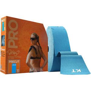 """KT Tape Pro Jumbo 10"""" Precut Kinesiology Sports Roll - 150 Strips - Laser Blue"""