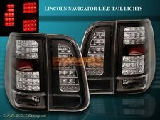 2003 2004 2005 2006 LINCOLN NAVIGATOR BLACK LED TAIL LIGHTS 4 PIECES SET