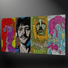THE BEATLES CANVAS PICTURE PRINT WALL ART HOME DECOR FREE DELIVERY 20 X 12 INCH