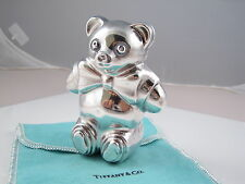 Tiffany & Co RARE Silver Teddy Bear Baby Rattle Teether