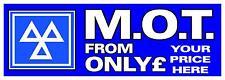 PERSONALISED PRICE MOT PVC OUTDOOR BANNER GARAGE WORKSHOP 2FT X 6FT