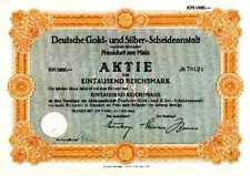 Degussa Deutsche Gold + Silber Frankfurt histor. Aktie 1942 Hessen Evonik Chemie