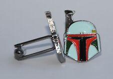 Star Wars Boba Fett Quality Enamel Cufflinks