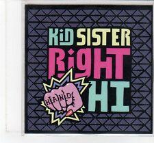 (FT339) Kid Sister, Right Hand Hi - 2009 DJ CD