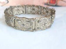 Traumhaftes antikes Armband Silber 835 vergoldet, besetzt mit Markasiten