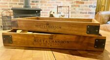 Rustic Wooden Trays Moet Chandon