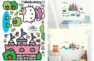 SFK Hello Kitty Castle Wall Sticker decals kids playroom room interior bedroom