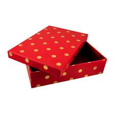 Bellissimi puntini rossi e oro confezione regalo per ogni occasione. dimensioni: H6xW24xD16.5cm-GBS60
