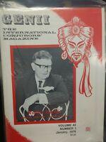 Robert Harbin Issue 1978 Genii Conjurors Magazine Vol.42 No.1