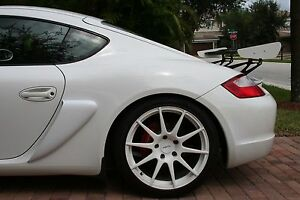 NEW REVISED DESIGN  GT4 style side scoops for 987 Porsche Cayman