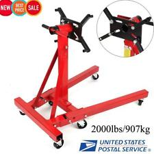 New Shop Engine Stand 2000LBS/907KG Foldable Hoist Automotive Lift Rotating