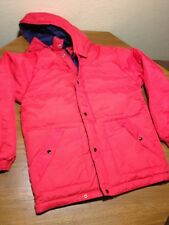 Hagen London Tower Red Puffer Down Filled Ski Jacket  Size Mens Medium Reverse.