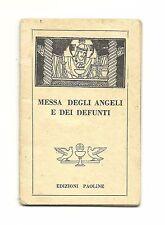 """Libretto Sacro Primo 900 """"Messa degli angeli e dei defunti"""" Ediz.Paoline"""