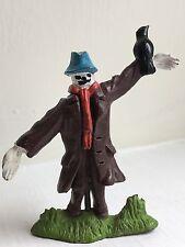 Vintage Plastic Britains Toy Farm Scarecrow Figure with Bird