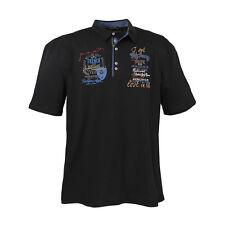 LAVECCHIA chemise haut polo shirt en noir gr. 3xl 4xl 5xl 6xl 7xl 8XL #3101