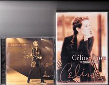 CELINE DION RARE LIVE IN PARIS CD + S'IL SUFFISAIT D'AIMER DVD
