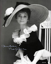 "Audrey Hepburn  AUTOGRAPHED PHOTO COPY B & W Reprint 8"" x 10""  AUD-08"