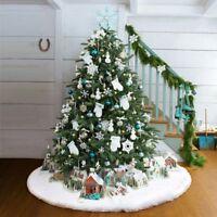 90cm Plüsch Christbaumdecke Weihnachtsdeko Weihnachtsbaum Rock Bodenmatte Deckel