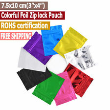 3''x4'' Colorful Top Feed Foil Zip lock Bags Food Pouches,Zipper Food Bag